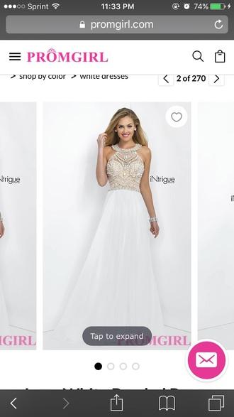 dress prom dress prom white dress gold white long prom dress