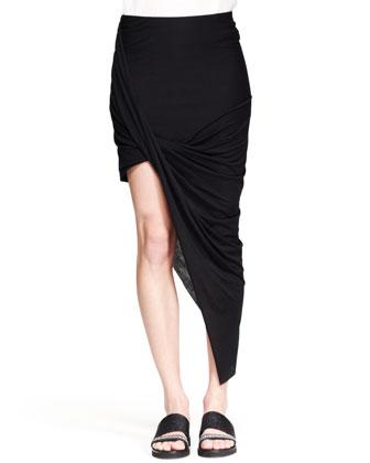 Helmut Lang Kinetic Asymmetric Wrap Skirt