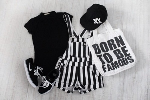 hat t-shirt dress bag shoes