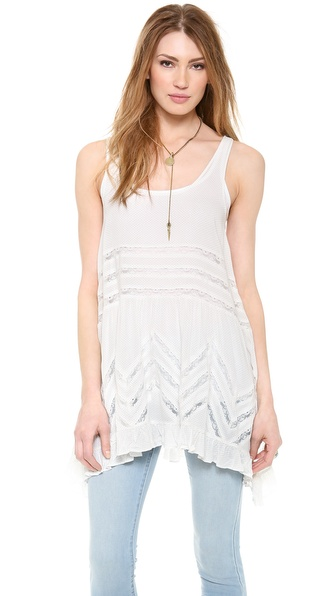 Free People Voile & Lace Trapeze Tank   SHOPBOP