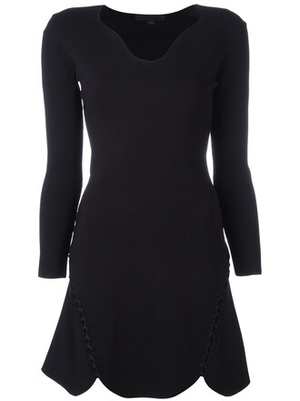 dress shift dress women spandex black