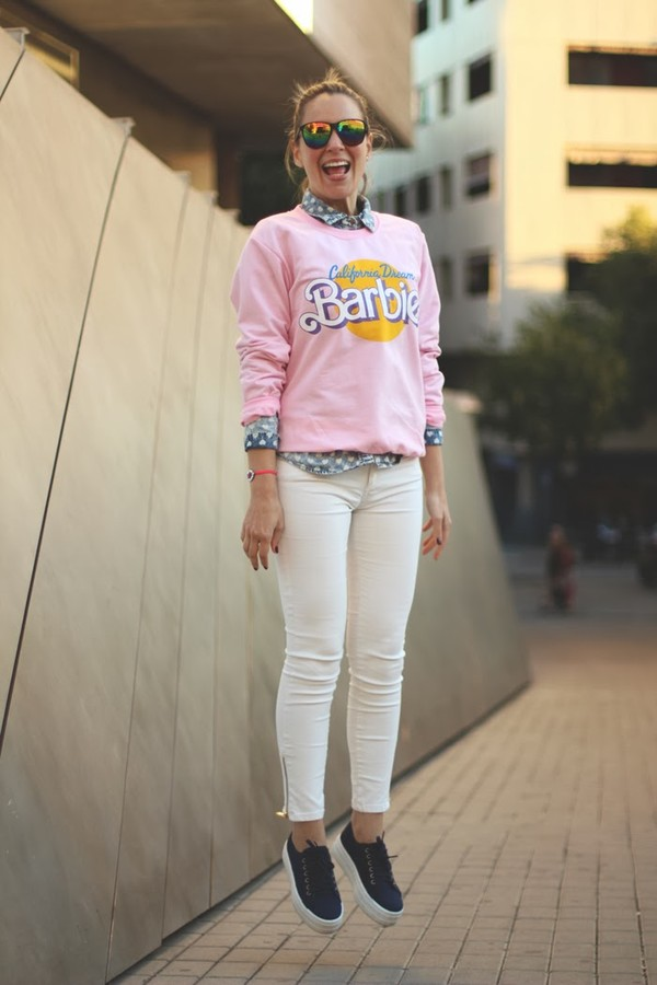 my showroom sweater shoes shirt jewels jeans