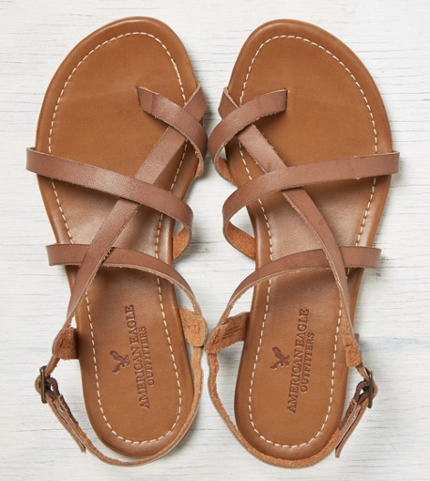 american eagle sandals aeo strappy criss cross sandal brown american eagle 12377