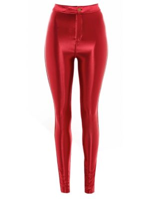 Atelier 61 Aubergine High Shine Disco Pants