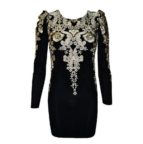 fashion gold Embroidered Vintage Puff Sleeve Dress  · FE CLOTHING · Online Store Powered by Storenvy