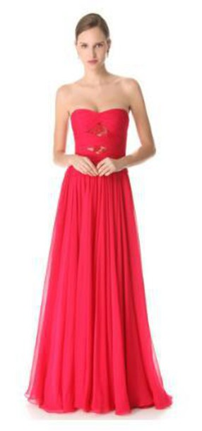 dress strapless dress trumpet skirt chiffon dress prom dress long prom dress