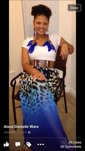 skirt cheetah or leopard print  multi-colored