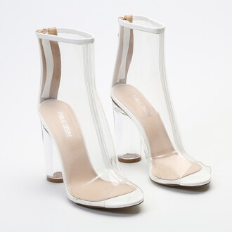 shoes perspex perpex boots boots clear clear boots celebrity high heels