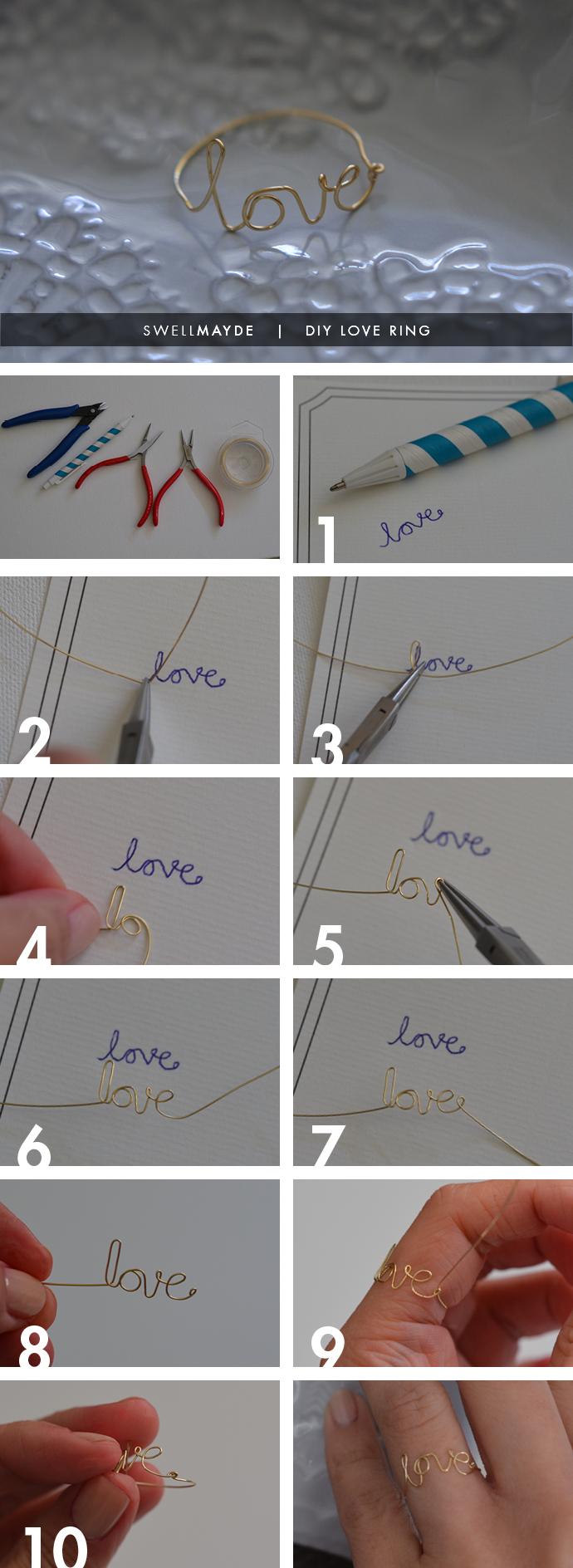 swellmayde: VALENTINE'S DIY | WIRE LOVE RING