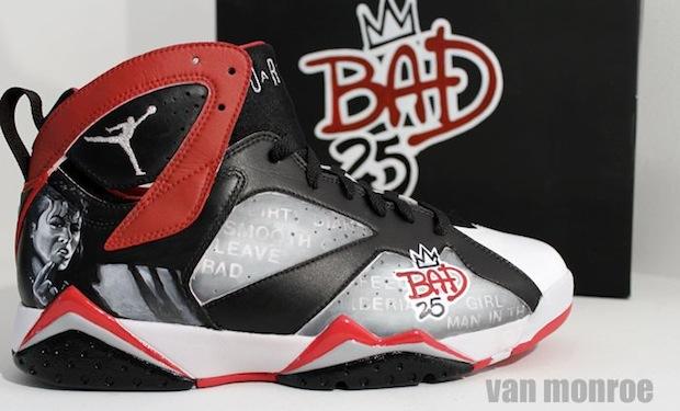 Nike Air Jordan VII Michael Jackson Bad 25 by Van Monroe