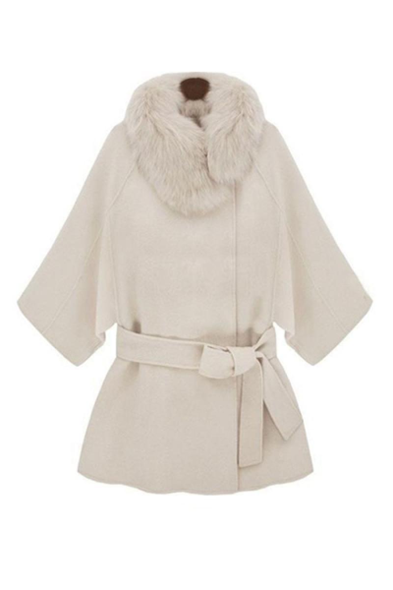 Autumn & Winter New Section Fur Collar Thickening Woolen Overcoat,Cheap in Wendybox.com