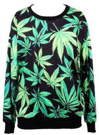 Green Hempa Sweatshirt   Outfit Made