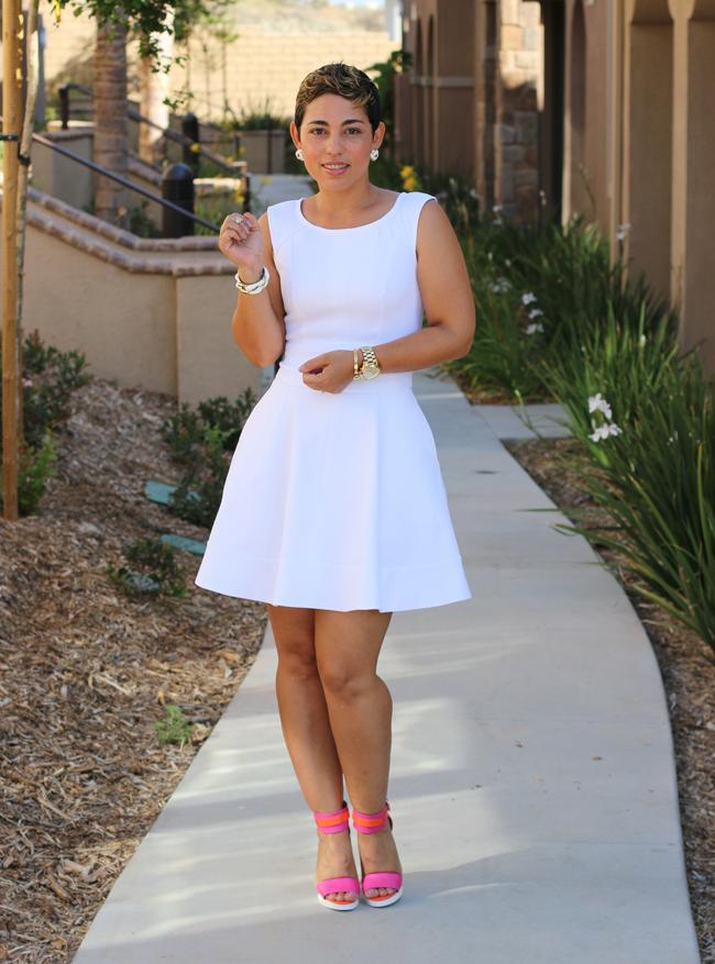 DIY White Pique Dress  Pattern Review - Mimi G Style