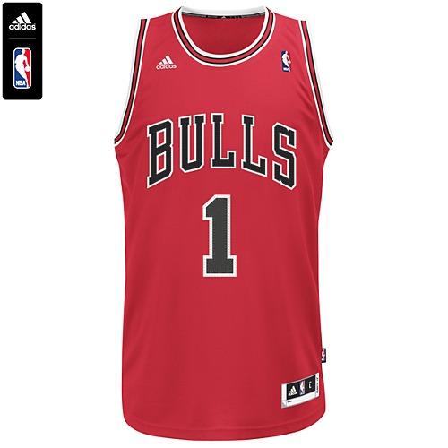 adidas Bulls Derrick Rose No. 1 NBA Swingman Jersey