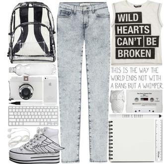 shoes bag t-shirt wild heart can't be broken