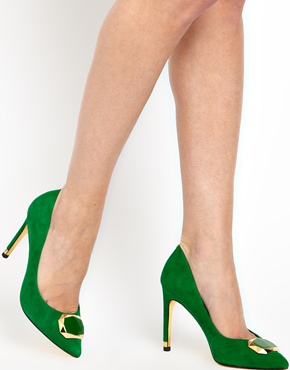 Ted Baker | Ted Baker Roquet Green Evening Court Shoes at ASOS