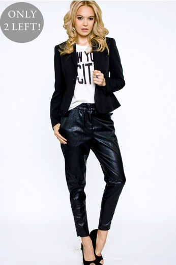 Cameo Surface Leather Pants- $138