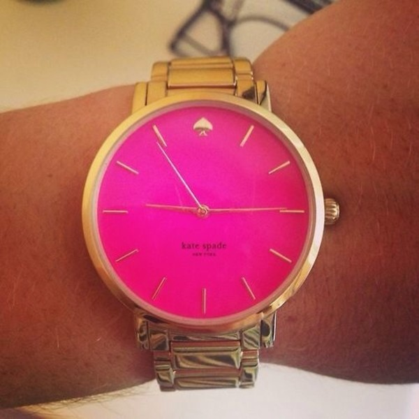 jewels gold watch pink watch pink and gold luxury kate spade