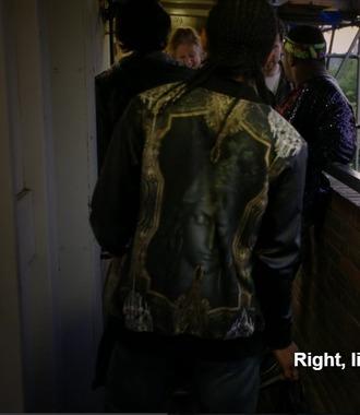jacket black leather catholic religious religion virgin mary virgin mary leather jacket chewing gum black jacket jesus jesus christ