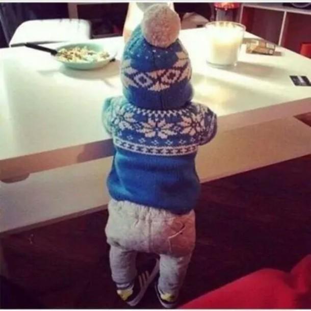 sweater blue shirt baby clothing winter sweater fair isle
