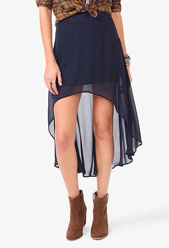 High-Low Chiffon Skirt   FOREVER21 - 2030187783