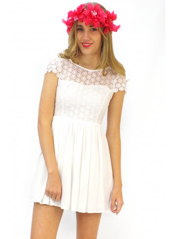 Dress Daisy Lace in White
