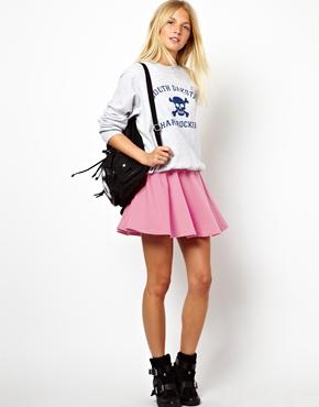 ASOS | ASOS Skater Skirt in Ponte at ASOS