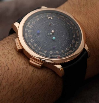 jewels watch science astronomy nerd planets fancy clock space stars
