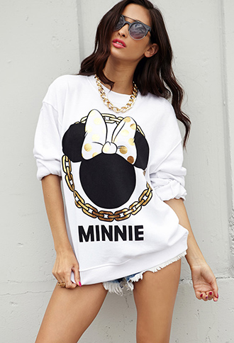 Minnie Mouse Chain Sweatshirt   FOREVER21 - 2000075225