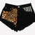 Fierce Studded Cheeky Black Shorts | RUNWAYDREAMZ