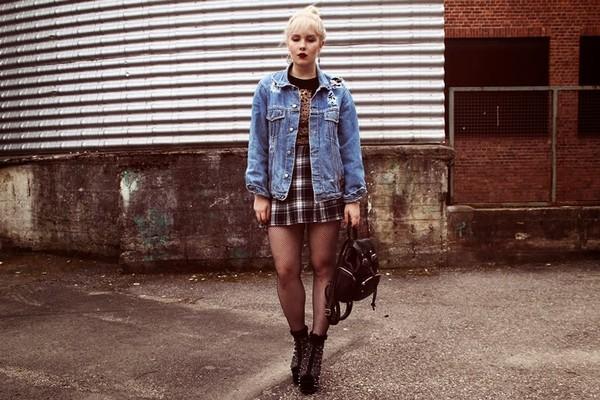 thelma malna shirt skirt jacket shoes jewels