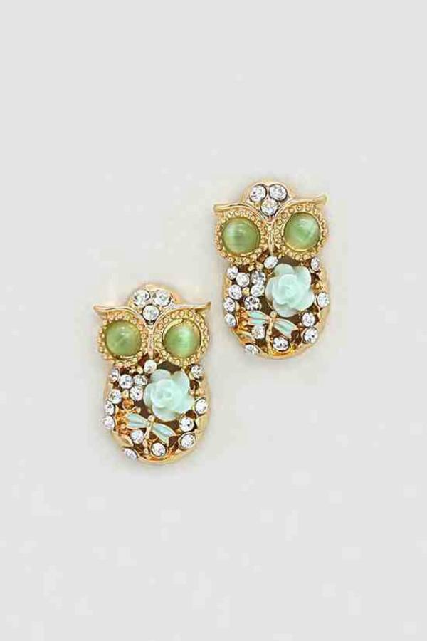 jewels earrings owls jewelry fashion