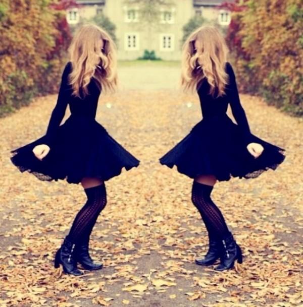 dress little black dress vintage