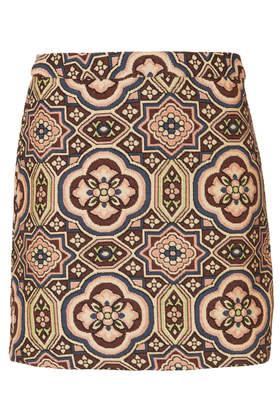 Folk Jacquard A-Line Skirt - Topshop