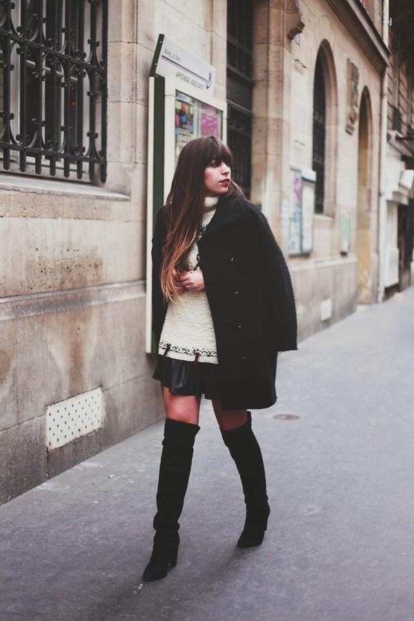 fringe and frange shoes skirt sweater