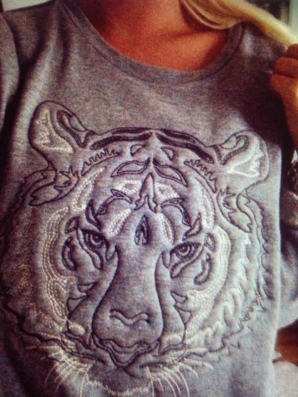 sweater grey tiger sweatshirt