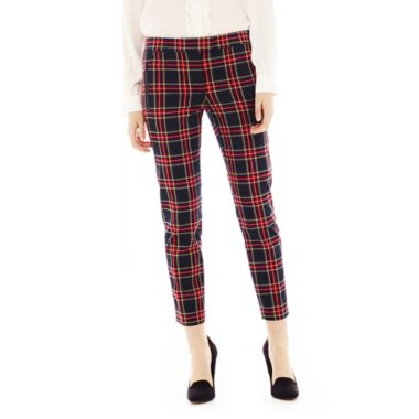 Joe Fresh™ Cropped Plaid Pants - JCPenney