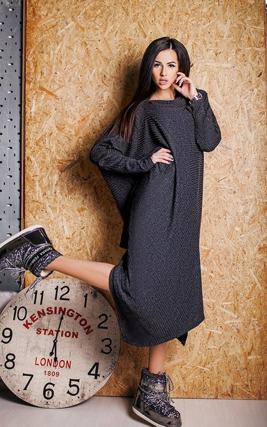 dress maxi dress prom dress black dress grey off the shoulder