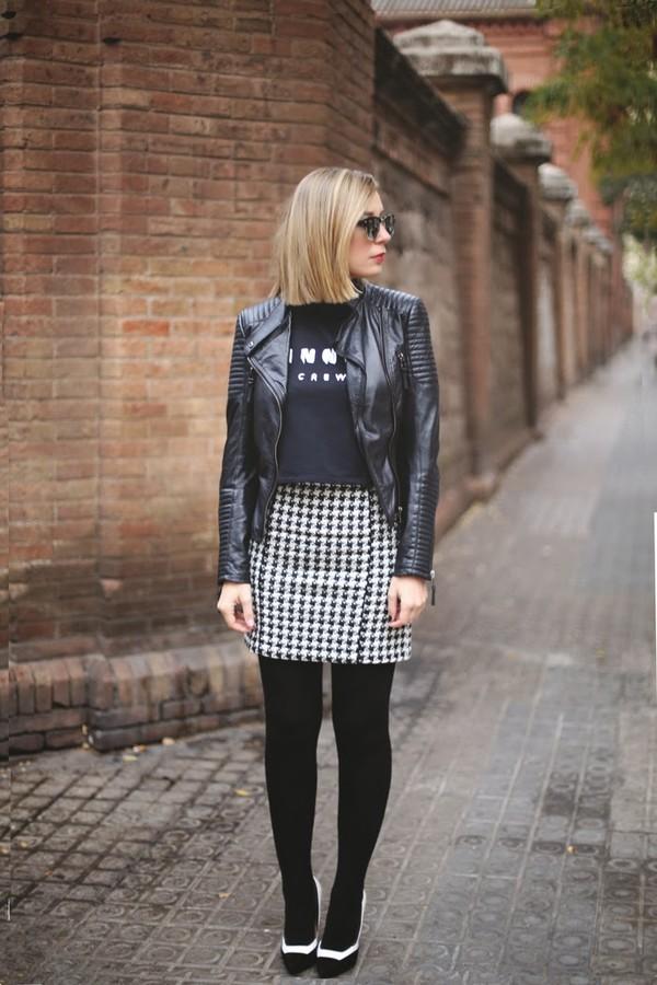my showroom skirt sweater jacket sunglasses shoes jewels