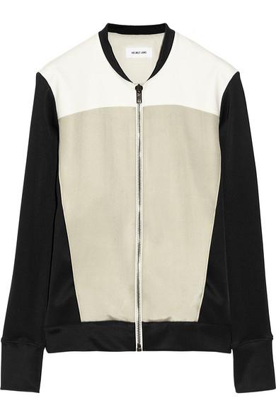 Helmut Lang Jersey and ponte jacket NET-A-PORTER.COM
