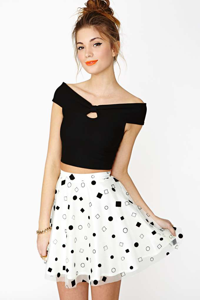 In Shape Skater Skirt  in  Clothes Bottoms Skirts at Nasty Gal