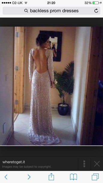 dress backless long gold