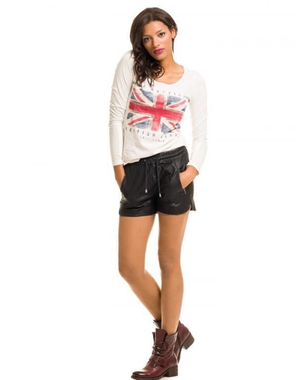 Shorts Sino con bolsillos imitación piel de Noisy May   BUYLEVARD