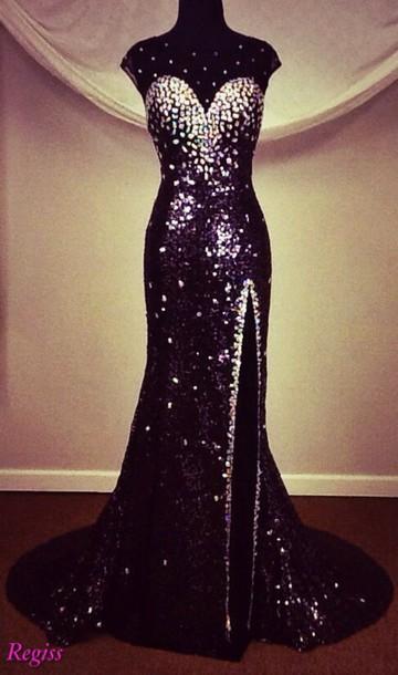 dress regiss panoply prom dress sequins