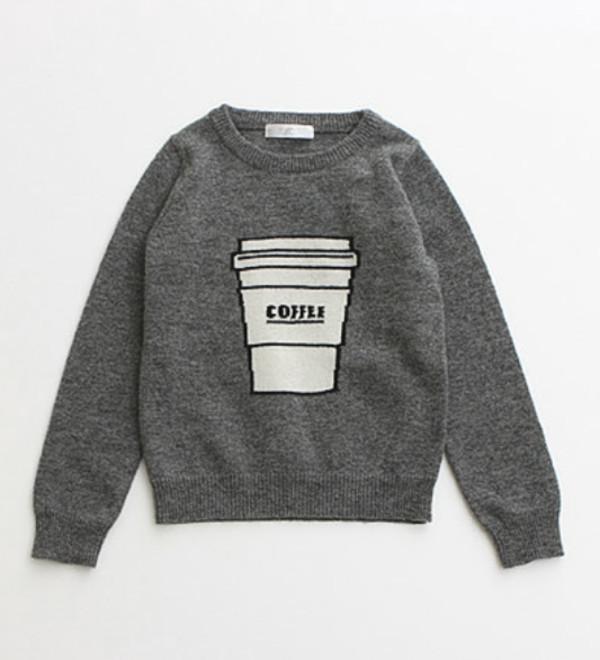 sweater grey coffee coffee fashion winter sweater starbucks coffee