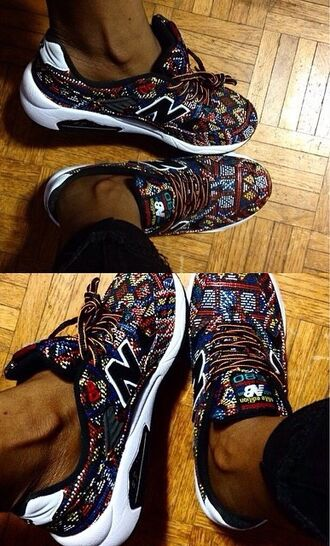 shoes new balance 580 women aztec new balance new balance sneakers sneakers women sneakers girly ethnic pattern low top sneakers