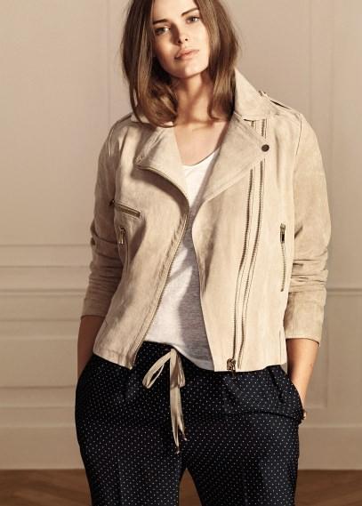 MANGO - CLOTHING - Coats - Trim linen t-shirt