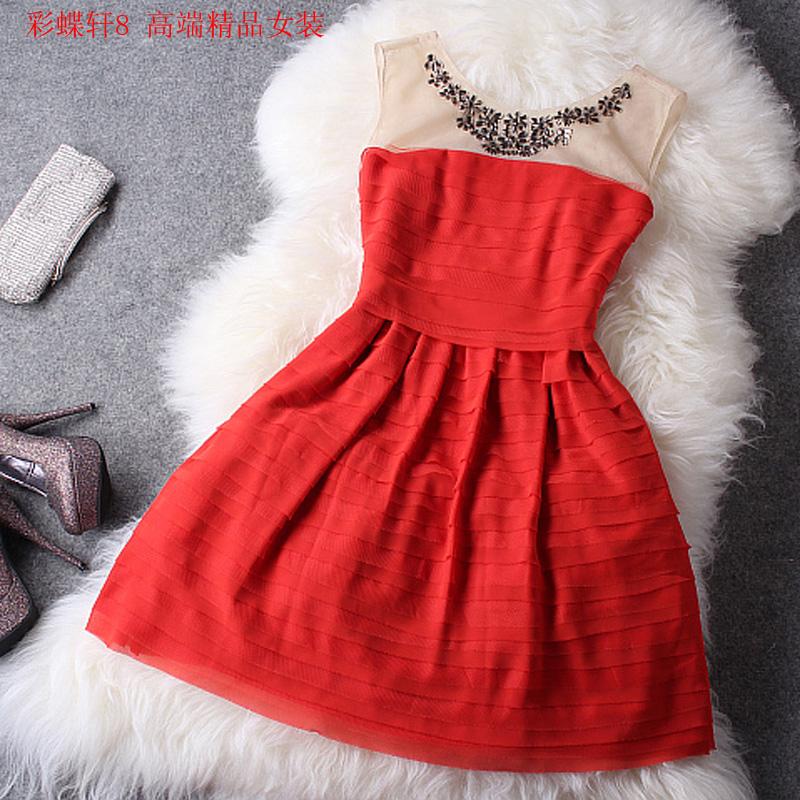 High quality red bridal wear evening dress skirt marriage dress one piece dress female on Aliexpress.com