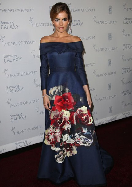 floral gown camilla belle carolina herrera dress