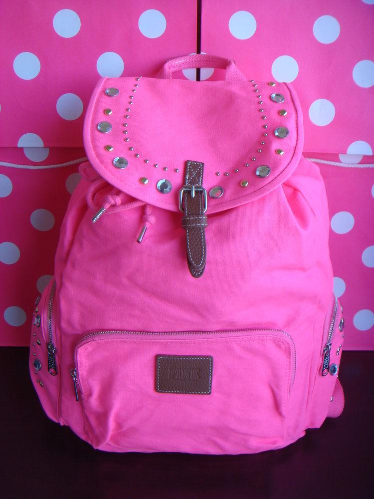 Super Cute Victoria's Secret Pink Back Pack Full Size Bling Bling | eBay